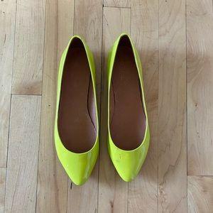 Madewell Luminary Citrus Pointed Toe Flats